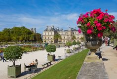 Palace of Luxembourg Gardens, Paris, France. stock image