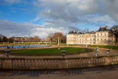 Palace in Luxembourg Park in Paris Stock Photos