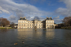 Palace in Luxembourg Park in Paris Royalty Free Stock Images