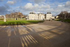 Palace in Luxembourg Park in Paris Royalty Free Stock Photography