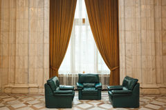Palace luxurious room Stock Photo