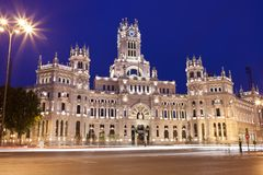 Palace in Madrid Stock Photography
