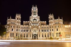 Palace in Madrid Royalty Free Stock Images