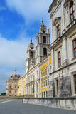 Palace of Mafra Portugal. Facade of the Basilica at the Palace of Mafra Portugal a famous royal palace built in the 18th Century Royalty Free Stock Image