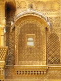 Palace of the Maharajah in Jaisalmer, India. Palace of the Maharajah in Jaisalmer, the magnificent Golden City in the heart of Rajasthan (India), surrounded by Stock Image