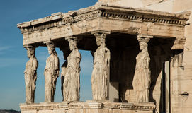 Palace of the Maidens on the Athens Acropolis Royalty Free Stock Photo