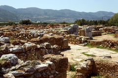 The palace of Malia, minoan archaeological site - Crete Stock Photography