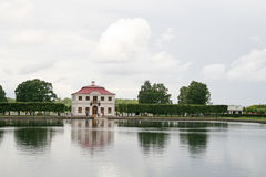 Palace Marli in Petergof Lower Park near a pond, Petergof, Russia Royalty Free Stock Photo