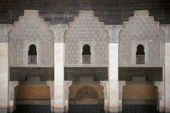 Palace in Marrakesh,Morocco. Detail of a Palace in the Medina in Marrakesh,Morocco Stock Photos
