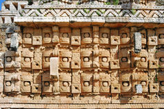 Palace of the Masks in Kabah. Details of Palace of the Masks - Codz Pop Stock Photos