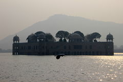 Palace in the Middle of Lake stock photo