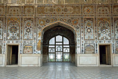 Palace of mirrors,. Palace of mirrors at Lahore Fort in Pakistan stock images