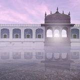 Palace in the mist. Stock Images