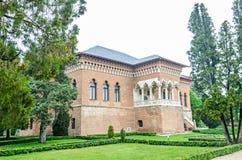 The Palace Mogosoaia near Bucharest, Romania, exterior detail. Build by Constantin Brancoveanu. BUCHAREST, ROMANIA - APRIL 30, 2017: The Palace Mogosoaia near Stock Photos
