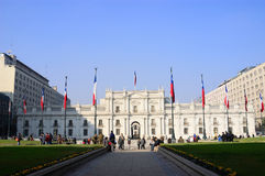 The Palace of Moneda, in Santiago, Chile Stock Photography