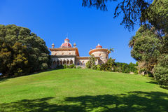 Palace of Monserrate in the village of Sintra Royalty Free Stock Photo