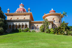 Palace of Monserrate in the village of Sintra royalty free stock photography