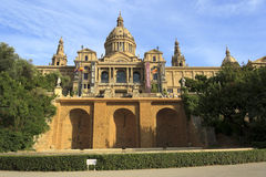 Palace of Montjuic, Barcelona Stock Photo