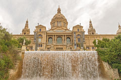 Palace of Montjuic, Barcelona, Spain Stock Images