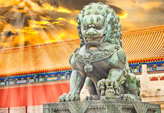 The Palace Museum, Forbidden City, China royalty free stock images