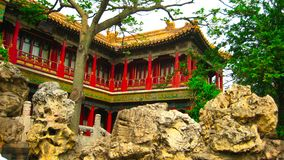 The Palace museum. This Palace museum is located in The Imperial garden of Forbidden city in China royalty free stock photos