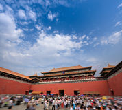 Palace museum meridian gate Royalty Free Stock Photography