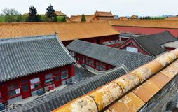 The Palace Museum. After the rain in China stock photo