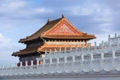 Palace Museum rooftop at twilight, Beijing, China Stock Photos