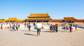 Palace museum scene-Gate of Superme Harmony(Taihe Gate) buildings Royalty Free Stock Image