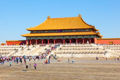 Palace museum scene-Hall of Superme Harmony(Taihe Hall) buildings Royalty Free Stock Image