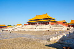 Palace museum scene-Hall of Superme Harmony(Taihe Hall) buildings Royalty Free Stock Photo