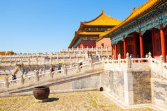 Palace museum scene-Main hall and white marble base Royalty Free Stock Image