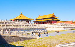Palace museum scene-Main hall and white marble base Royalty Free Stock Images