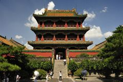 The Palace Museum of Shenyang. Is the imperial palace built before entering the inside Shanhaiguan in Qing Dynasty, it is the world cultural heritage now, this royalty free stock images