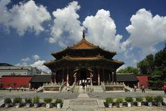 The Palace Museum of Shenyang. The Palace Museum is the imperial palace built before entering the inside Shanhaiguan in Qing Dynasty, it was one of the remaining stock photo