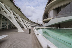 Palace music, modern museum architecture in the Spanish city of Stock Photo
