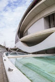 Palace music, modern museum architecture in the Spanish city of Stock Images
