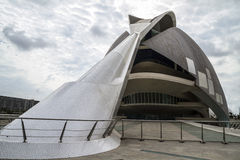 Palace music, modern museum architecture in the Spanish city of Royalty Free Stock Image