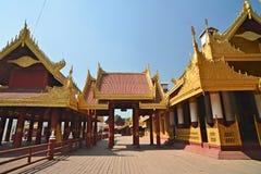 曼德勒Palace.Myanmar 库存照片