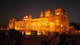 Palace. Mysure at india royalty free stock photo