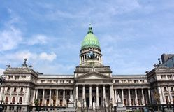 The Palace of the National Congress of Argentina in Buenos Aires stock image