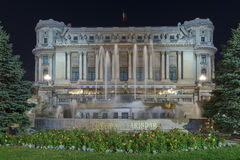 Palace of the National Military Circle at night Royalty Free Stock Image