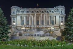 Palace of the National Military Circle at night Royalty Free Stock Image