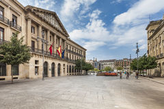 Palace of Navarra in Pamplona, Spain Royalty Free Stock Photos
