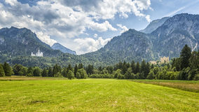 Palace Neuschwanstein and Hohenschwangau Stock Photography