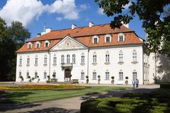 The palace of Nieborow estate in Poland royalty free stock photography