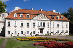 The palace of Nieborow estate in Poland stock photos