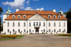 The palace of Nieborow estate in Poland, view from the forecourt stock images