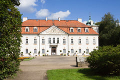 The palace of Nieborow estate in Poland, view from the forecourt royalty free stock photos