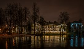Palace during Night Time Royalty Free Stock Image